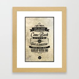 The Proverbs Art Prints Framed Art Print