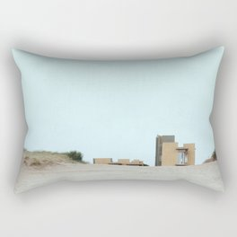 Concrete and sand Rectangular Pillow