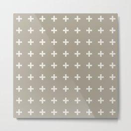 Gray Grey Alabaster Plus Metal Print