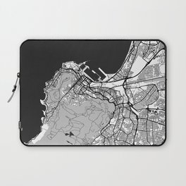 Cape Town Map Gray Laptop Sleeve