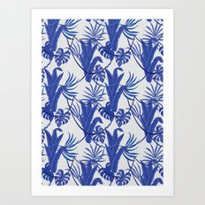 Jungle pattern Art Print
