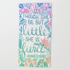 Little & Fierce – Lavender Mint Ombré Beach Towel