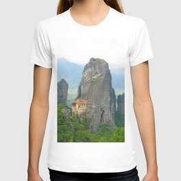 View of one of the monasteries of Meteora. Greece T-shirt