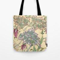 tiffany Tote Bags featuring tiffany garden by Ariadne