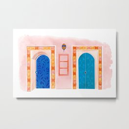 Neighbors - Mediterranean Doors Metal Print