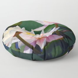 Water Lily neighbours and friends Floor Pillow
