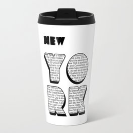 New York in writing Travel Mug