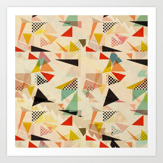 between shapes Art Print