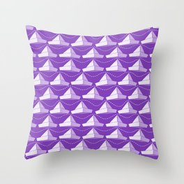 Paper Hats Pattern | Purple Throw Pillow