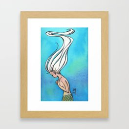 Underwater Mermaid Painting - Serenity Framed Art Print