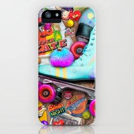Super Retro Roller Skate Night iPhone Case