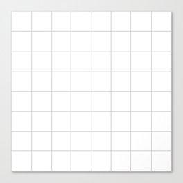WINDOWPANE ((calm gray)) Canvas Print