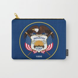 Utah State Flag - Authentic Version Carry-All Pouch
