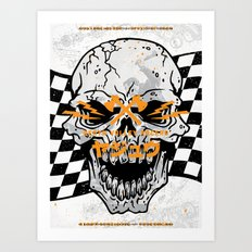 Death Valley Racers (Black Orange) Art Print