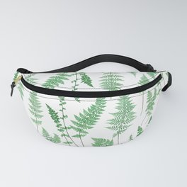 Ferns on White I - Botanical Print Fanny Pack