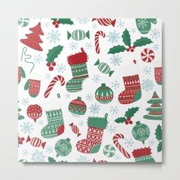 Christmas Pattern 05 Metal Print