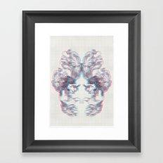 3D Fox Framed Art Print