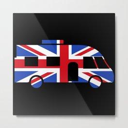 Modern Motorhome British Flag   Gift Metal Print