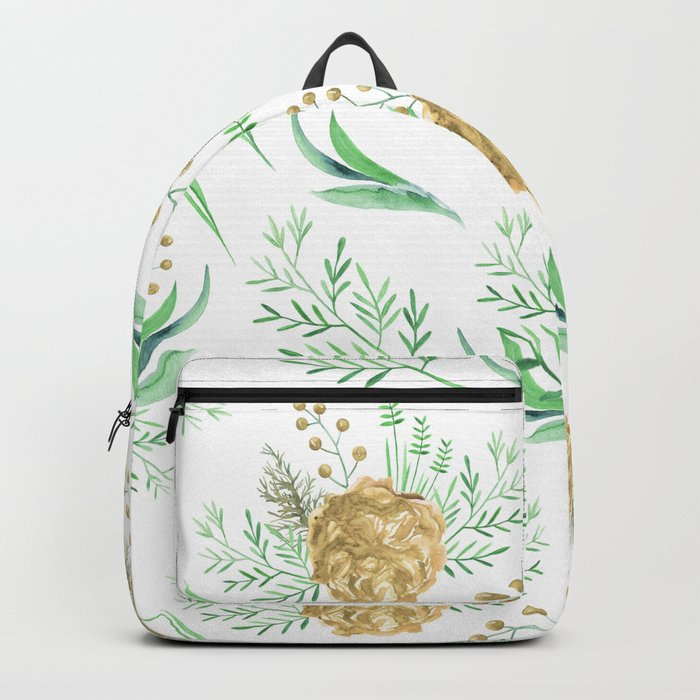 Coral Peach Garden Backpack