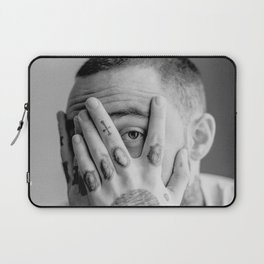 Mac Miller Black And White Portrait Laptop Sleeve