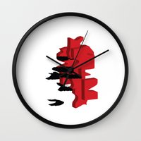 japan Wall Clocks featuring JAPAN by Joe Pansa