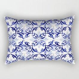 Azulejo V - Portuguese hand painted tiles Rectangular Pillow