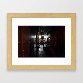 Night Shop Framed Art Print