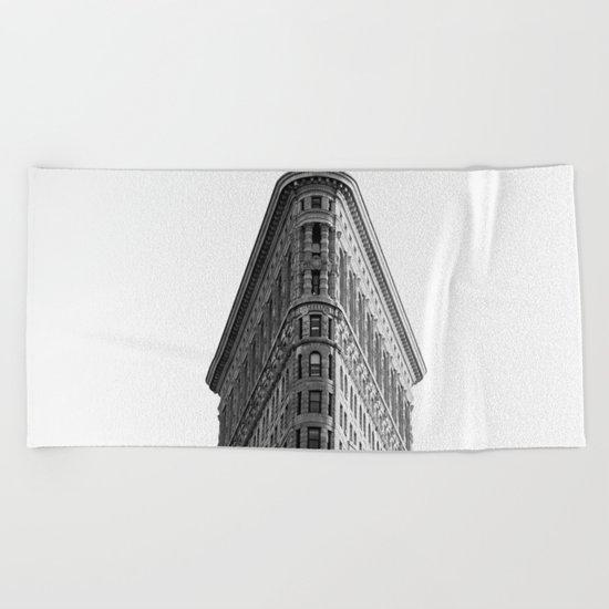 Flatiron Black and White NYC Beach Towel
