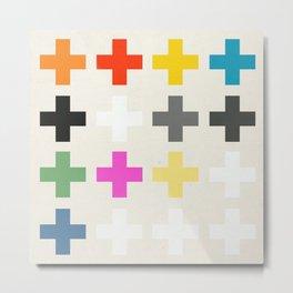 Crosses II Metal Print