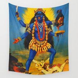 Kali By Raja Ravi Painting Wall Tapestry