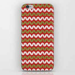 Christmas Ribbon Chevron iPhone Skin