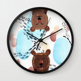 Brother Bears Wall Clock