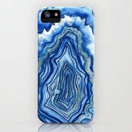Blue Geode iPhone Case