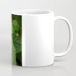 Red and Yellow Lantana Flower and Green Leaves Coffee Mug