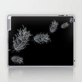 Flying Feathers Black and White Laptop & iPad Skin