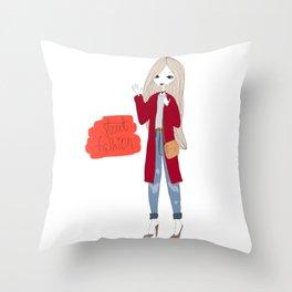 Street style girl Throw Pillow