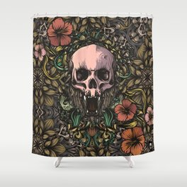 Skull in jungle Shower Curtain