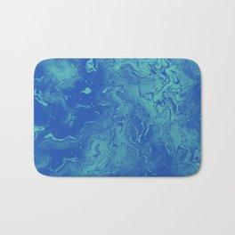 Blue Metal Bath Mat