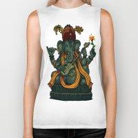 ganesha Biker Tanks featuring Ganesha by Nip Rogers