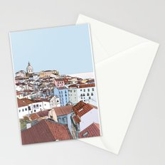Lisbon cityscape - colours Stationery Cards