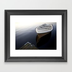 Boat on a sea Framed Art Print