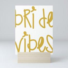 Bride Vibes Bachelorette Party Bridal Shower Gift Mini Art Print