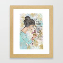 Passing Away by patsy paterno Framed Art Print