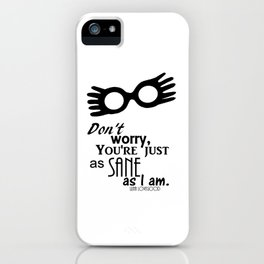 Luna Lovegood Quote iPhone Case