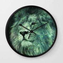 Green Celestial Lion Wall Clock