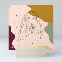 Starry Night Girl Mini Art Print