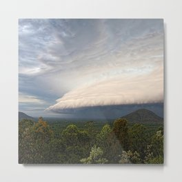 Storm clouds over Australian landscape Metal Print