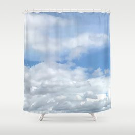 Soft Heavenly Clouds Shower Curtain