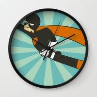 superheroes Wall Clocks featuring Superheroes! by EloisaD