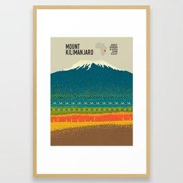 Mount Kilimanjaro Framed Art Print